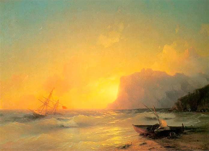 Знаменитые картины Айвазовского: Море. Коктебельская бухта. 1853г.