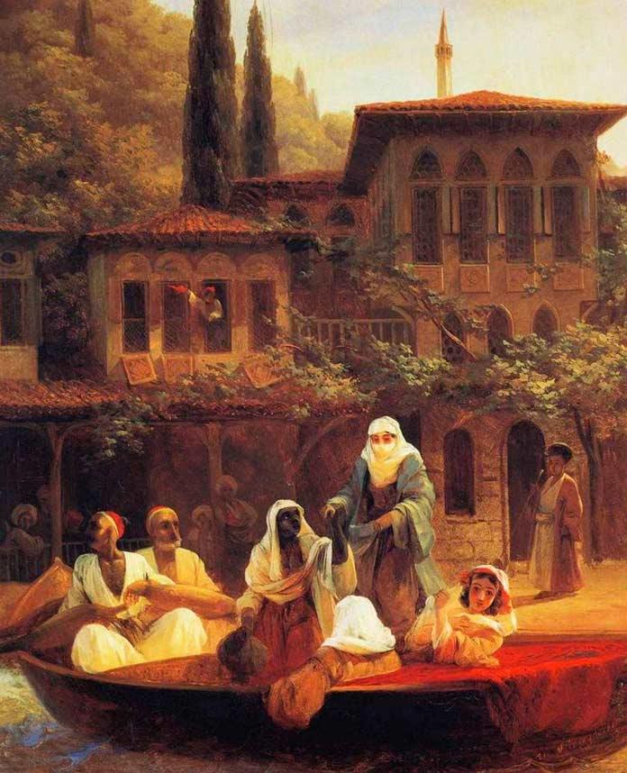 На лодке по Кумкапы в Константинополе