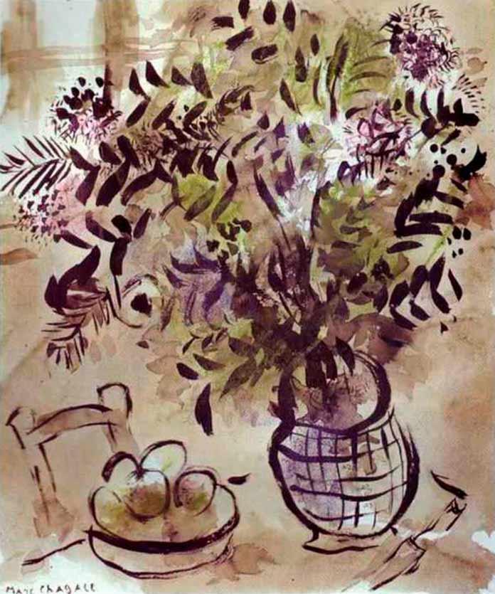 Натюрморт с вазой цветов