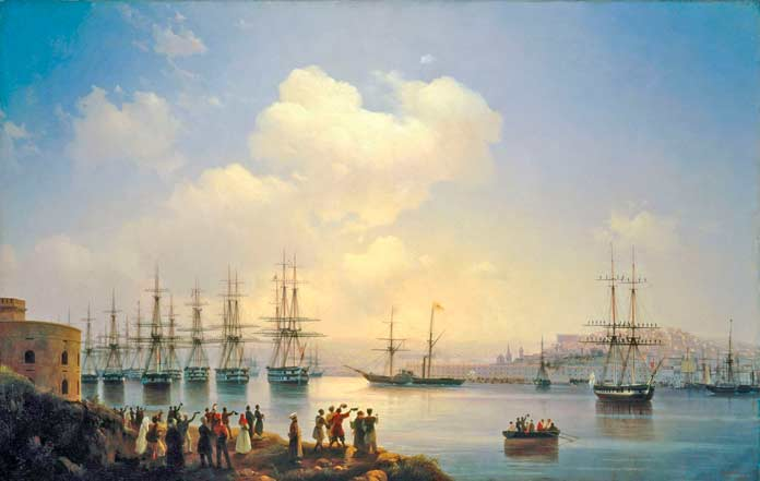 Русская эскадра на севастопольском рейде (1846)