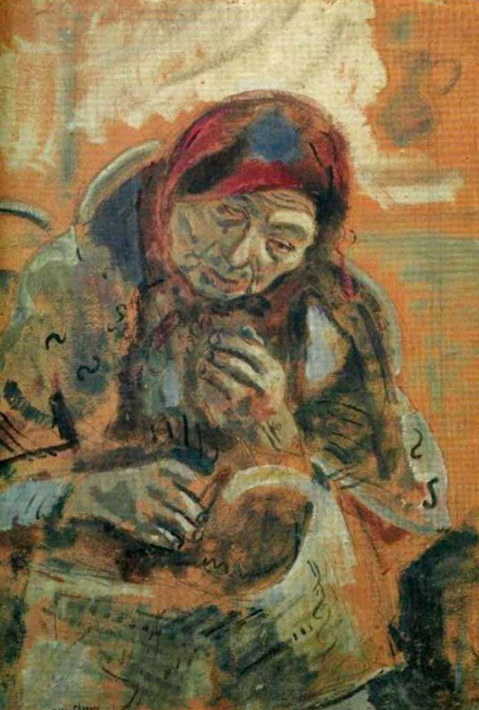 «Старуха с клубком» (1906)
