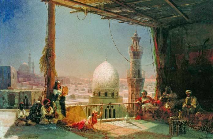 Картина Айвазовского Сцены из каирской жизни (1881)