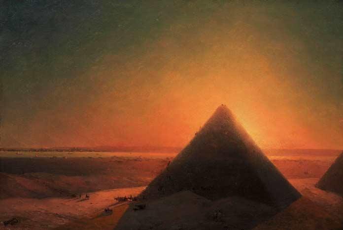 Знаменитые картины Айвазовского: Великая Пирамида в Гизе