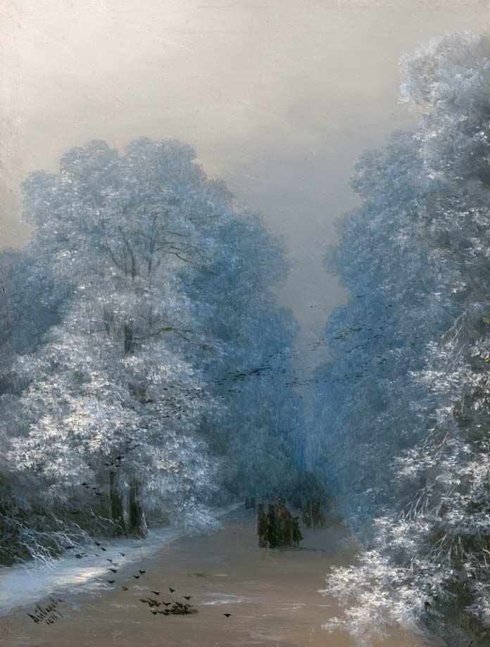 Знаменитые картины Айвазовского: Зимний пейзаж (1876)
