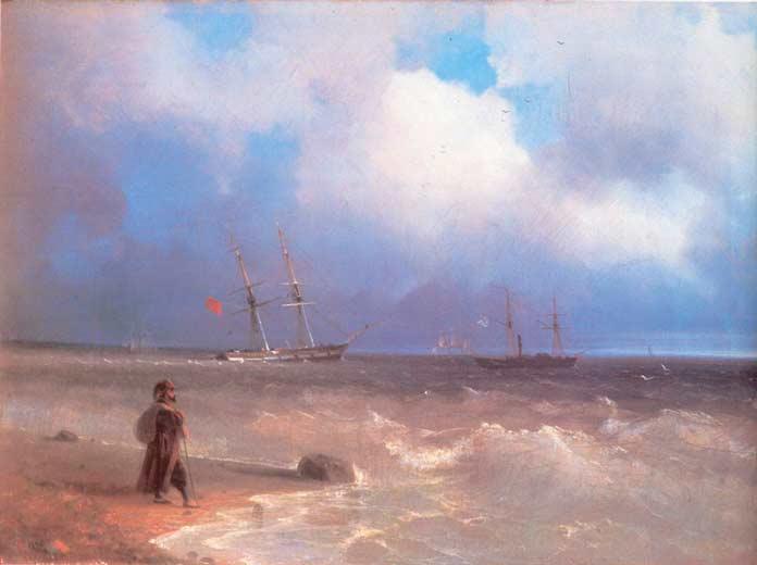 Знаменитые картины Айвазовского: Этюд воздуха над морем