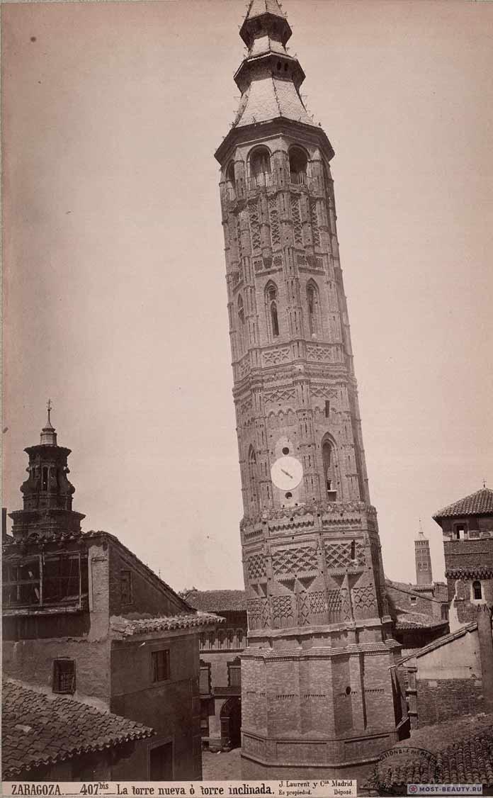 Клонящаяся башня Сарагосы в Испании