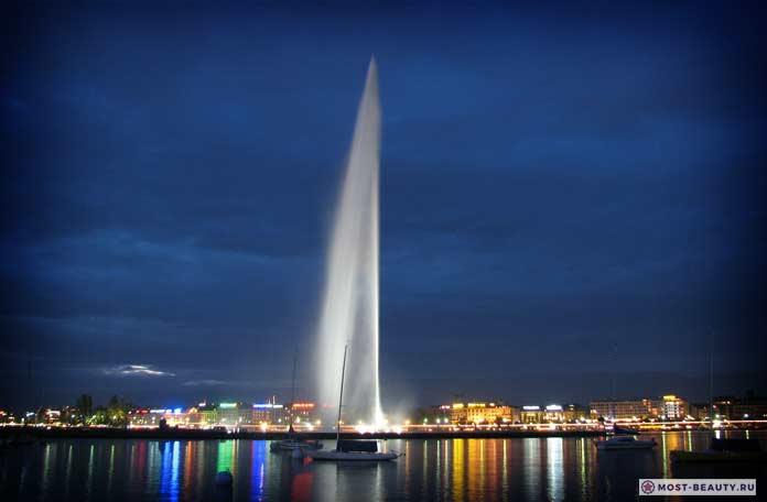 фонтан Же-До женева