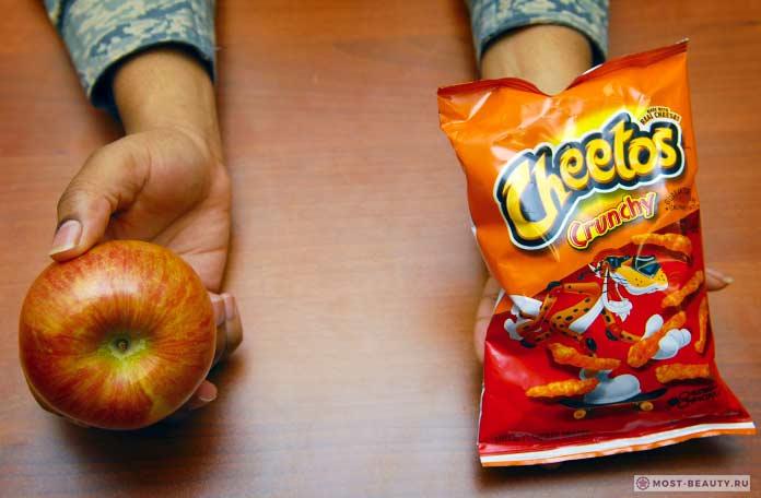 Минимум калорий в яблоках