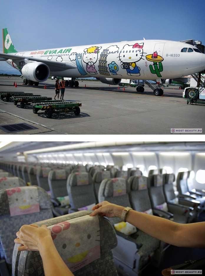 Окрас самолёта Hello Kitty