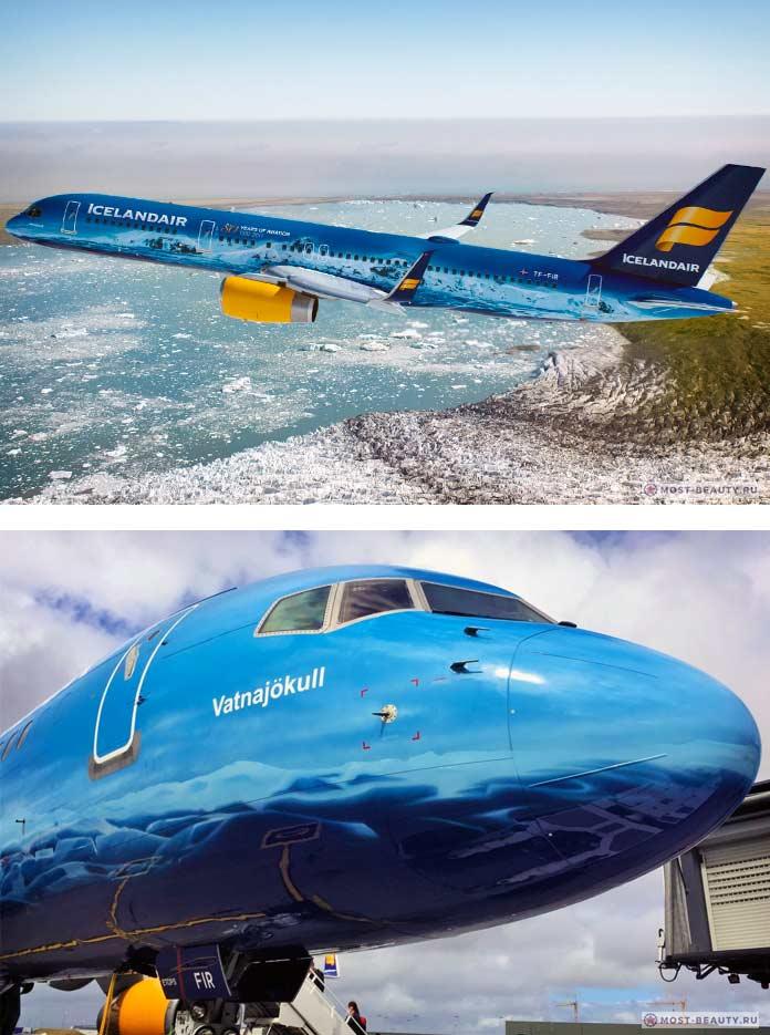 Окрас самолёта ледник