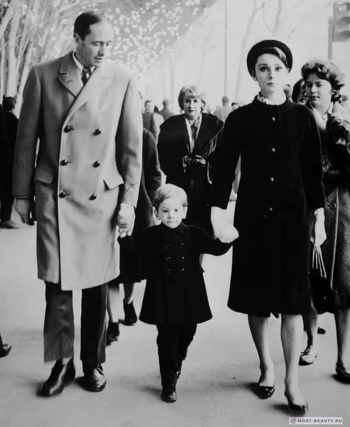 Хепберн и семья