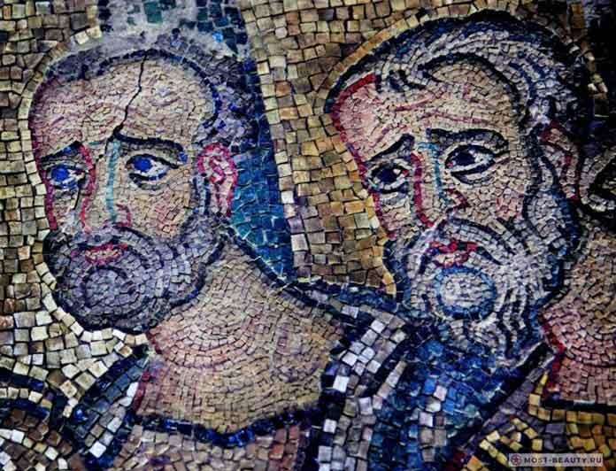 Скрытая мозаика в Базилике Рождества Христова