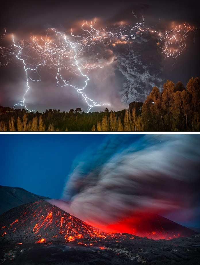 Фотографии извержения вулкана