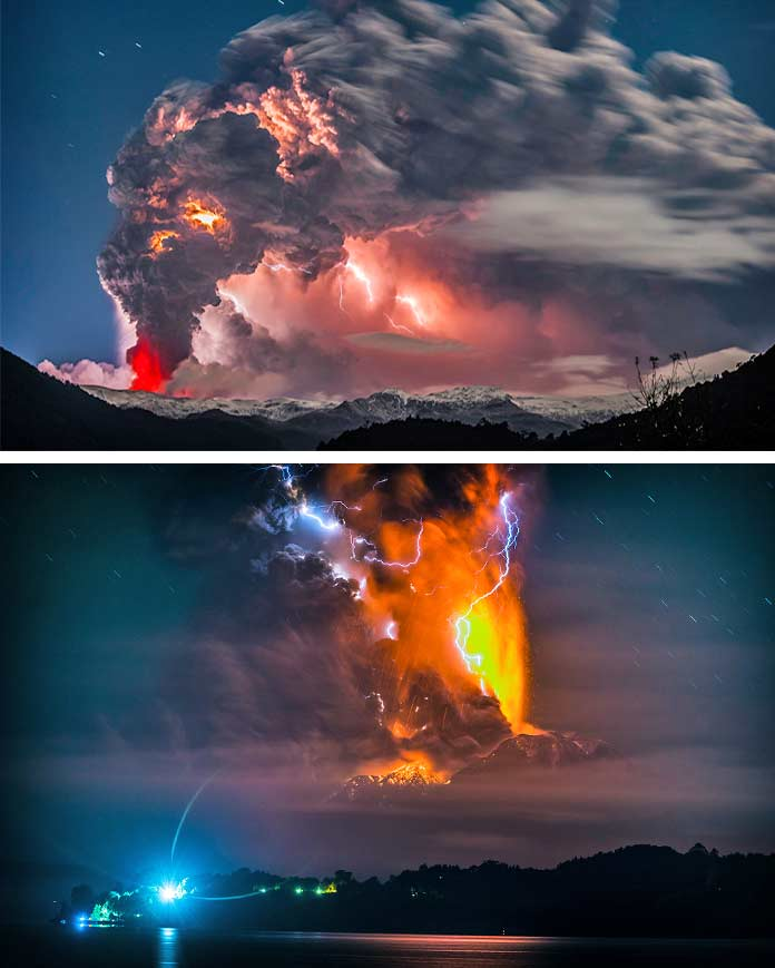 Вулкан и молния