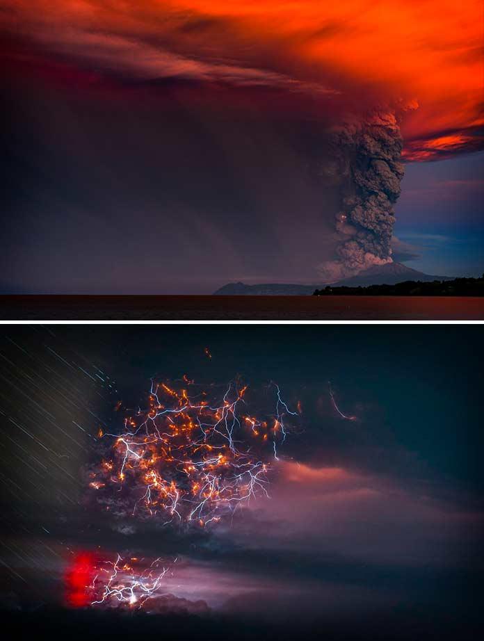 удивительные извержения вулканов