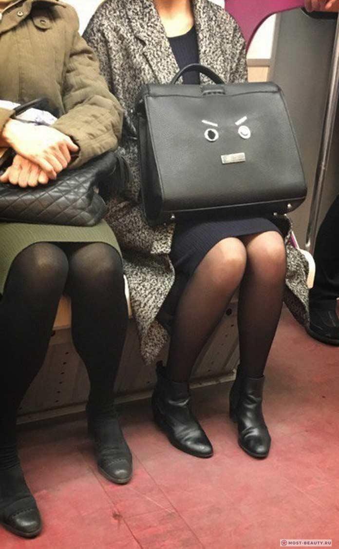 Более 100 убойных фото модниц в метро: Красивая сумка