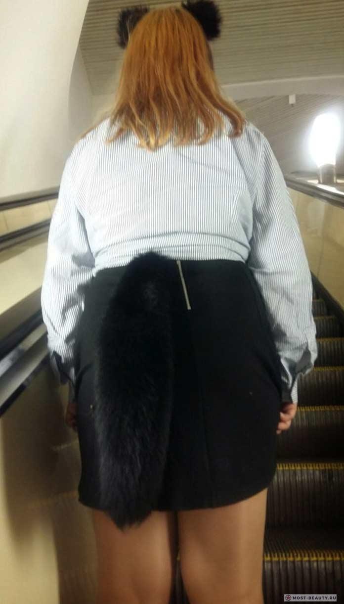 фото модниц в метро: Пухлая в метро