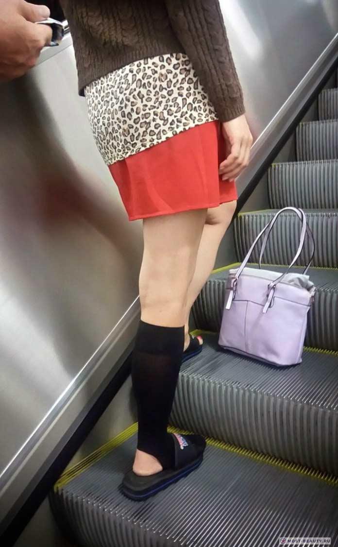 Более 100 убойных фото модниц в метро: Писк моды