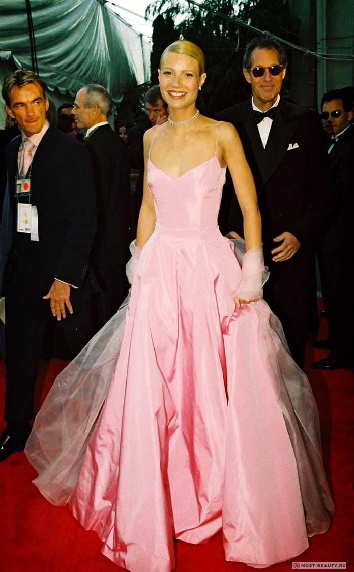 Гвинет Пэлтроу врозовом платье