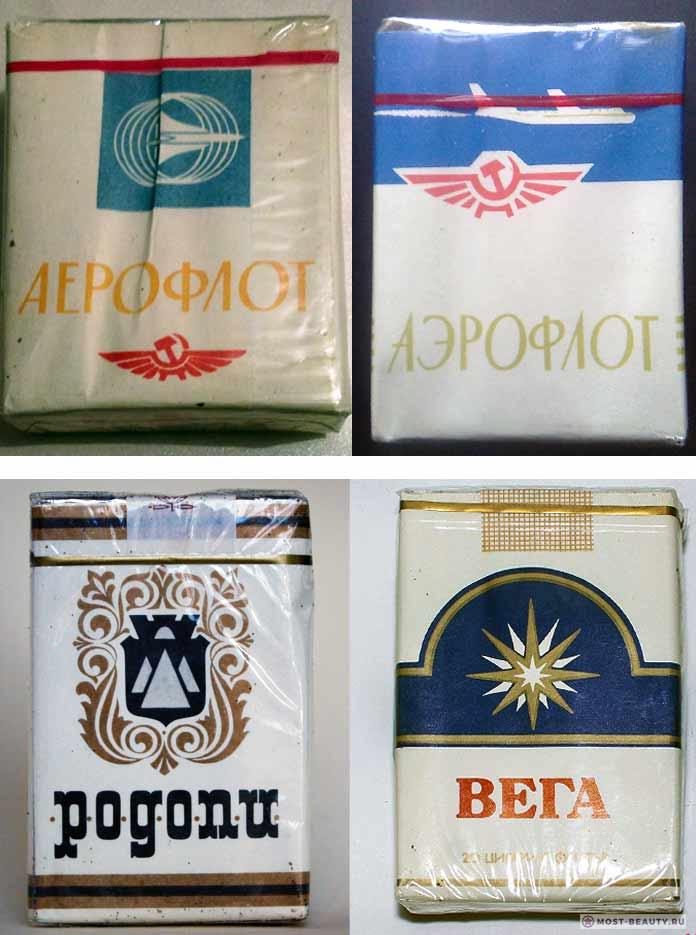 Какие сигареты курили в СССР: Аэрофлот, Родопи, Вега