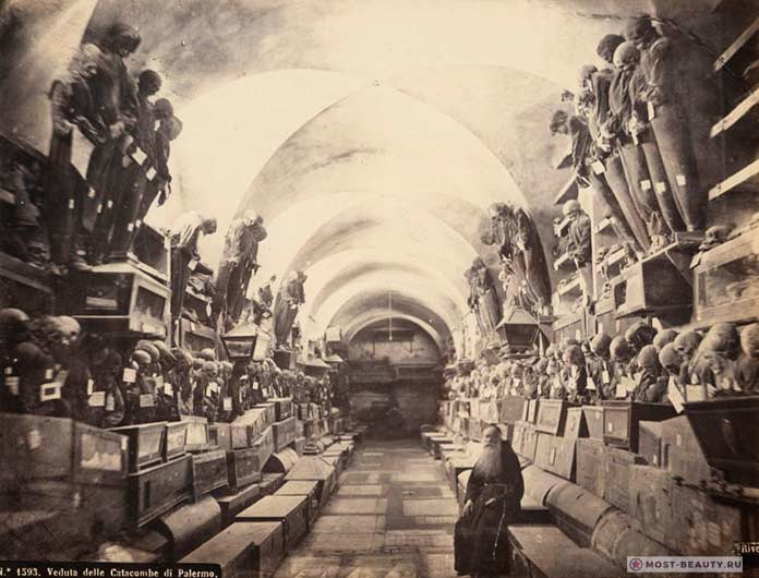 Катакомбы капуцинов в Палермо, Италия