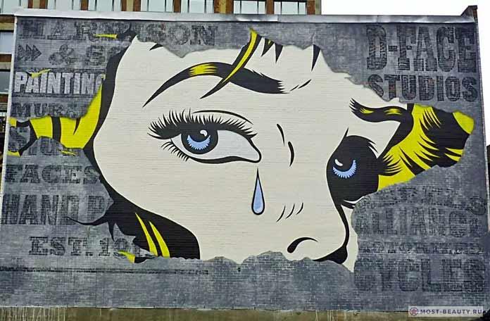 портрет плачущей девушки