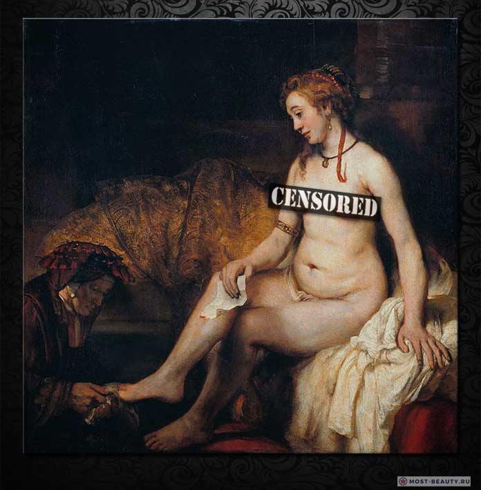 Знаменитые картины Рембрандта: Вирсавия, читающая письмо от Короля Давида (1654)