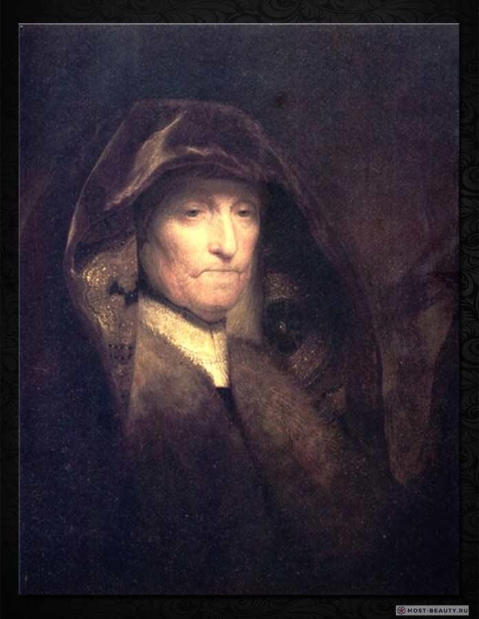 Знаменитые картины Рембрандта: Портрет пожилой женщины (матери художника) (1631)