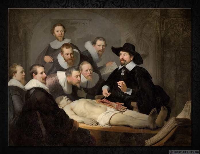 Знаменитые картины Рембрандта: Урок анатомии доктора Тульпа (1632)