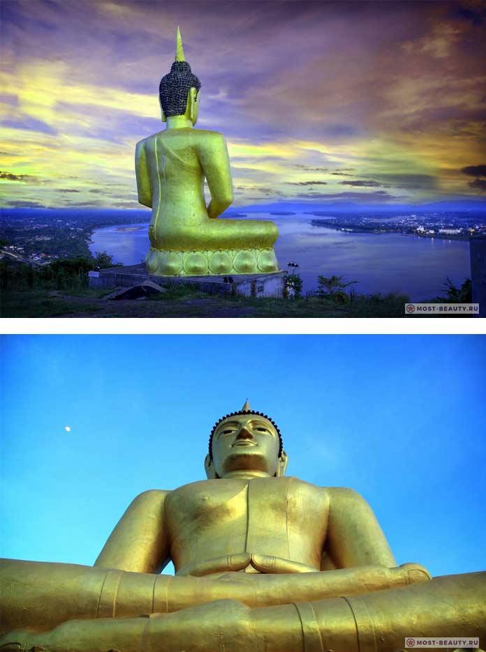 Золотой Будда — Паксе. Фото красивых статуй Будды