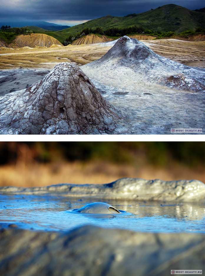Грязевые Вулканы - красивые достопримечательности Румынии
