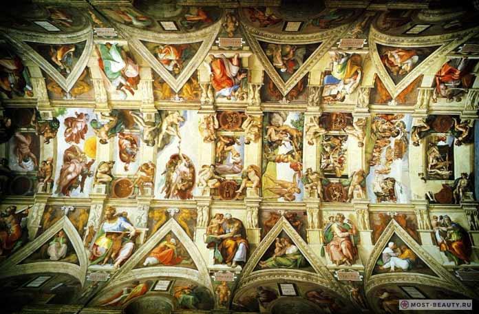 знаменитые фрески Микеланджело Буонаротти