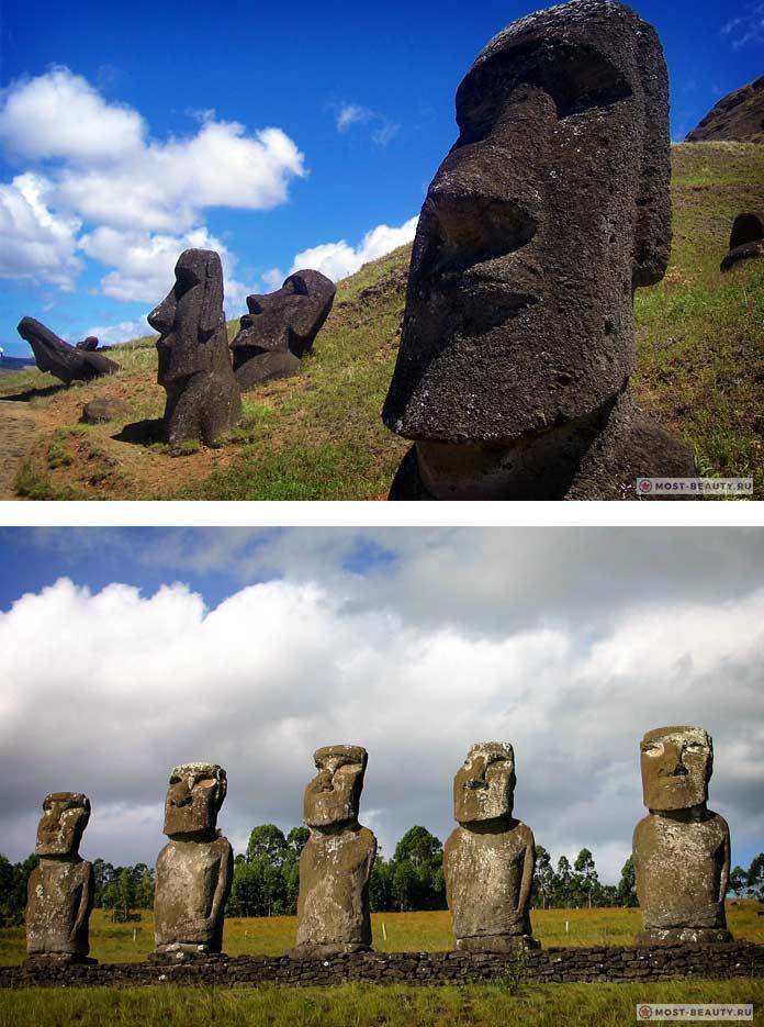 Моаи - мегалитические сооружения о.Пасхи