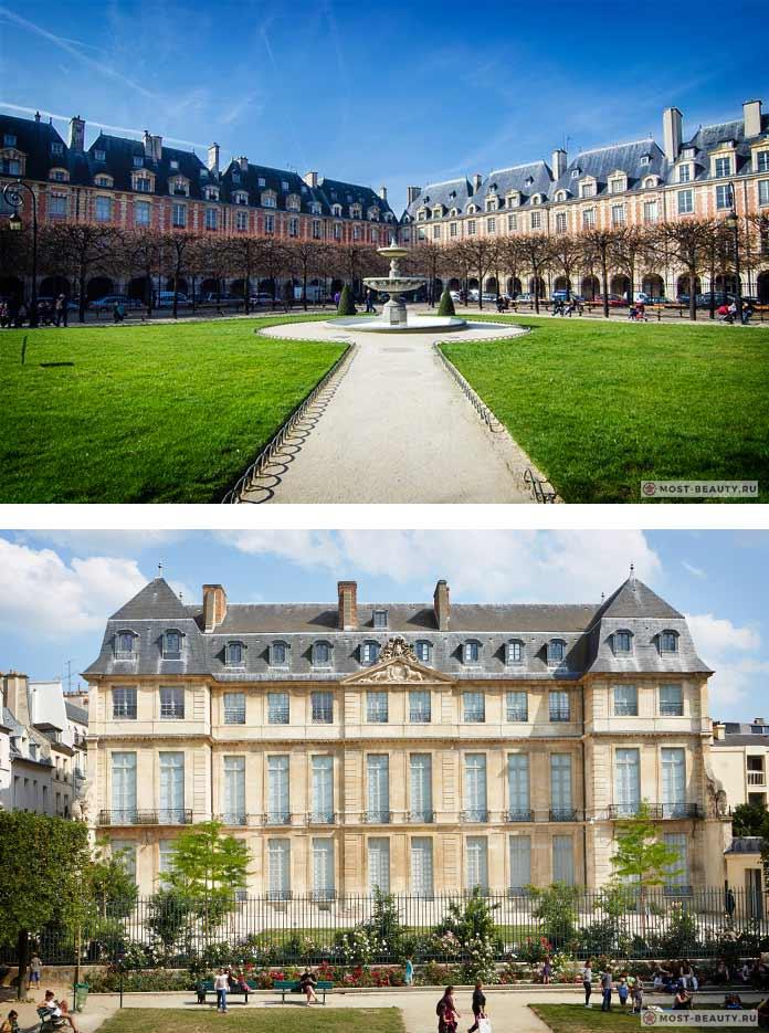 Музей Пикассо и Площадь Вогезов - красивые места Парижа