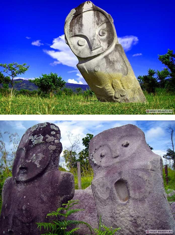 Скульптуры Бада - мегалитические сооружения Индонезии
