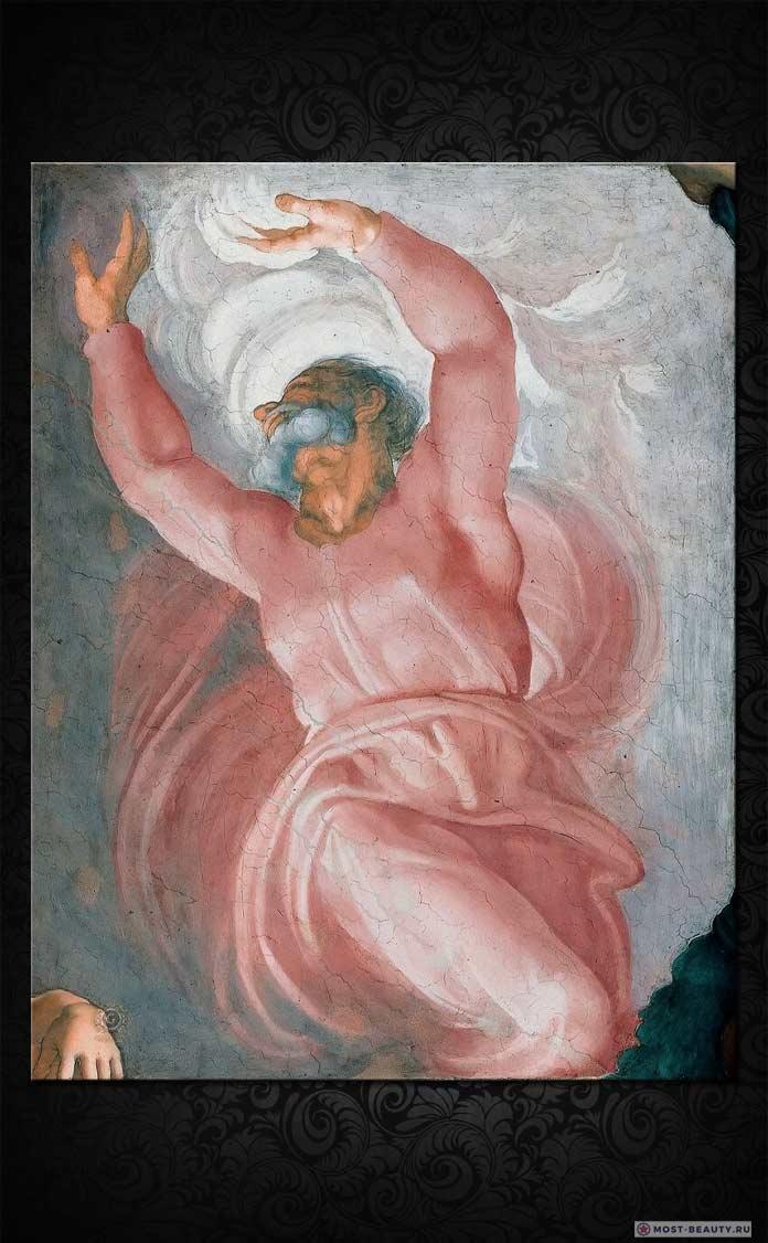 Сотворение мира. Кррасивые фрески Микеланджело