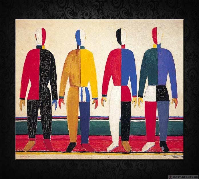 Знаменитые картины Малевича: Спортсмены (1931)