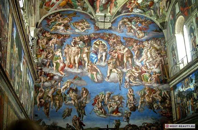 Страшный суд. Огромная фреска Микеланджело