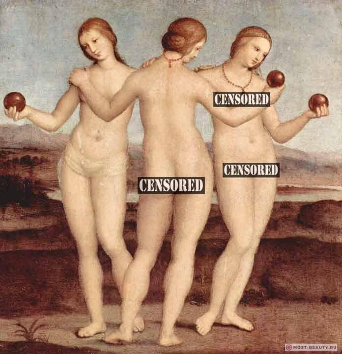 «Три грации» (1504) — одна из нежных картин Рафаэля Санти