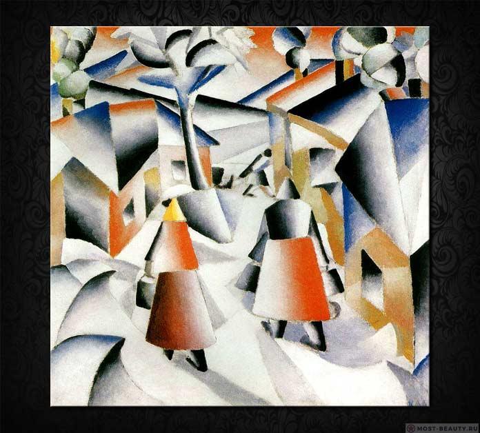 Знаменитые картины Малевича: Утро после грозы (1913)