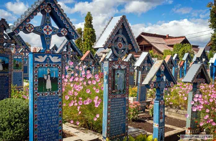 Весёлое Кладбище - красивые достопримечательности Румынии