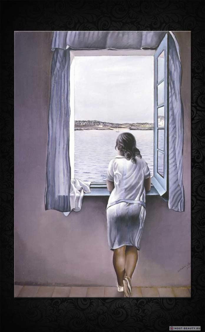 Женская фигура у окна (1925) Сальвадор Дали