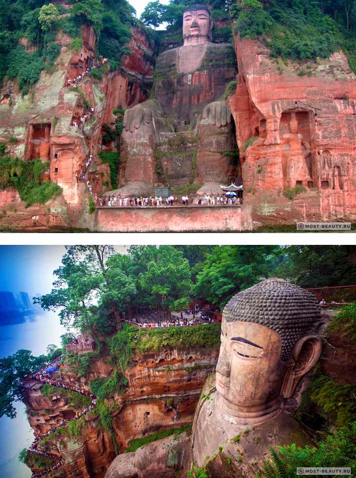 красивая Статуя Будды в Лэшане
