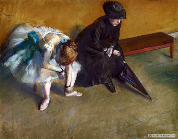 знаменитые картины Эдгара Дега: Балерина и женщина с зонтом