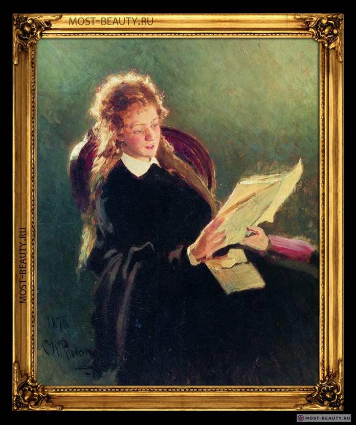 Лучшие картины Ильи Репина: Читающая девушка
