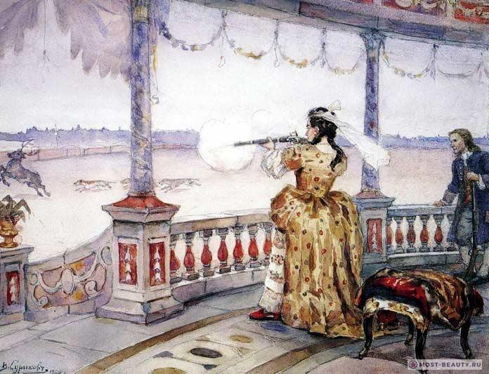 Императрица Анна Иоанновна на охоте