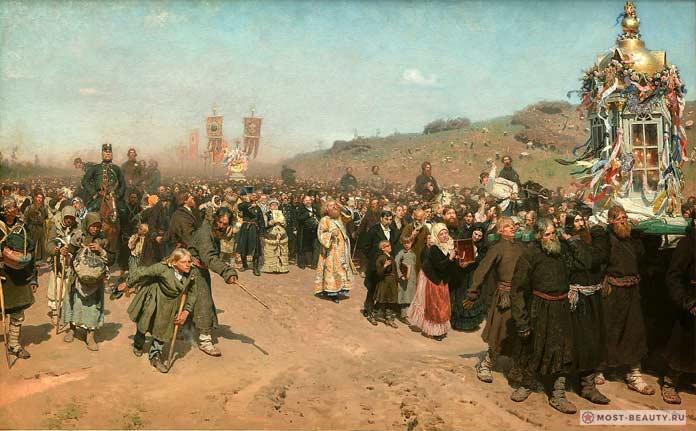 Известные картины Ильи Репина: Крестный ход в Курской губернии