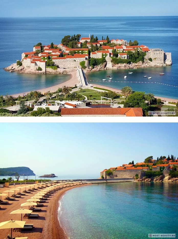 Курорт Свети-Стефан - одно из самых красивых мест Черногории
