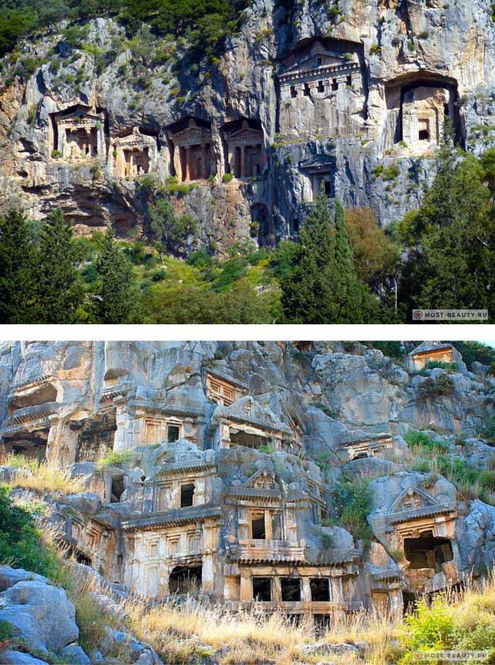 Список пещерных городов: Майра, Турция
