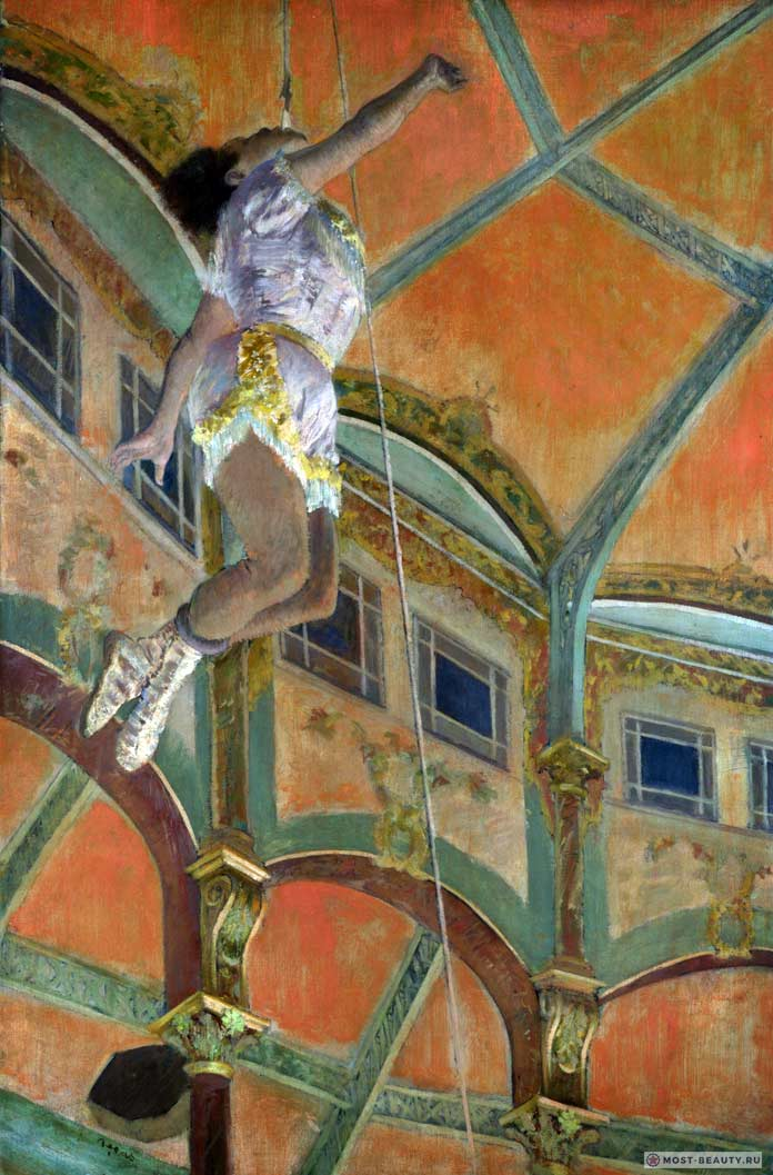 знаменитые картины Эдгара Дега: Мисс Ла-Ла в цирке Фернандо